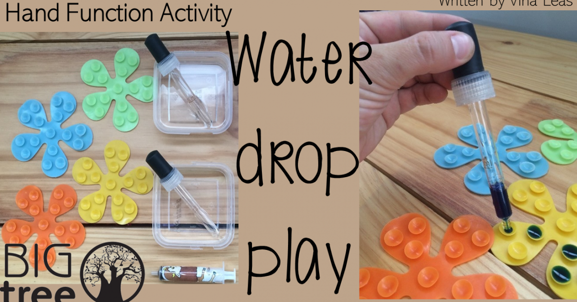 Fine Motor Control: Water Drop Play