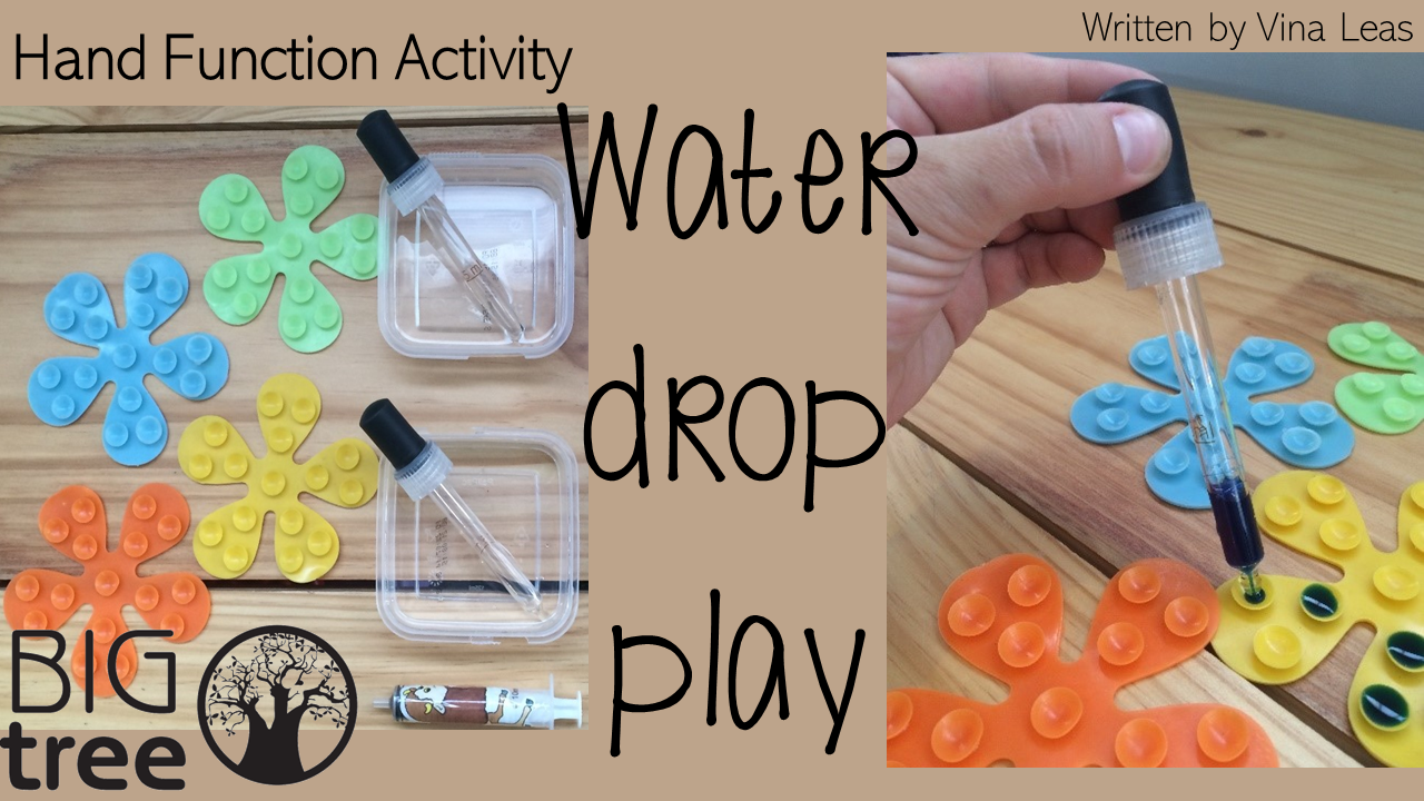 Fine Motor Control: Water Drop Play